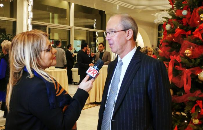 Galdino Peruzzo intervistato alla serata con l'ADAC