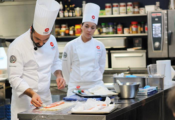 chef Fabio Potenzano menu di Natale Polo Ristorazione