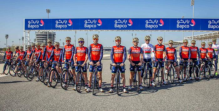 Il team Bahrein-Merida